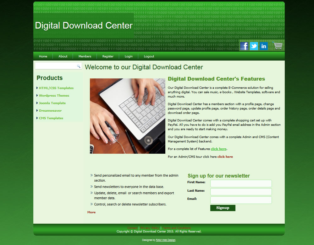 Digital Download Center Green
