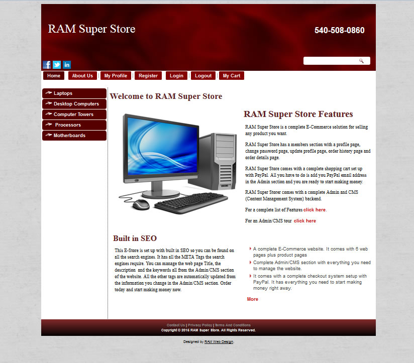 RAM Super Store Red